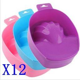 Wholesale Hand Remove Wash - Nail Art Soak off Tool Hand Remove Wash Soak Bowl Random Color 12pcs lot