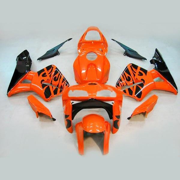 Custom ABS Fairing för Honda CBR600RR 05 06 CBR-600RR 2005 2006 Orange Black Fairing Bodykits, 2 present