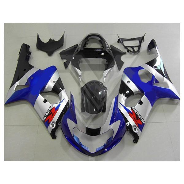 鈴木GSX-R1000 00 01 02 gsxr1000 2000 2002 BlueFairingキットのための注文のABSフェアリングボディキット