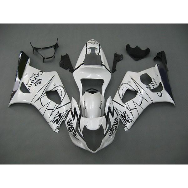 Cutom bodykits for ABS Plastic Suzuki GSX R1000 03 04 GSXR1000 2003-2004 white Corona Fairing,2 gift
