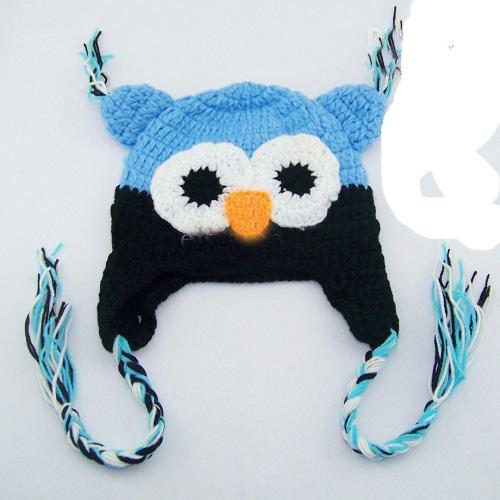 * Owl EarFlap Crochet Hat Baby Handmade Crochet beanie Hat Handmade OWL Beanies Knitted hat