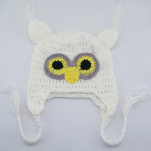 20pcs * Owl EarFlap Häkeln Hut Baby Handmade häkeln Mütze Hut Handmade OWL Strickmütze Mädchen