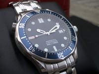 Wholesale Sapphire Automatic Professional - luxury Mens Professional 300m James Bond 007 Blue Dial Sapphire Automatic Watch Men's Watches
