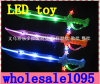 Wholesale Wholesale Led Swords - HOT NEW Children LED Toys Sword sound Baby good gifts 10PCS High quality