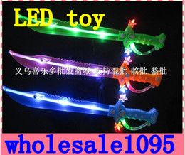 Wholesale Gift Sword - HOT NEW Children LED Toys Sword sound Baby good gifts 10PCS High quality