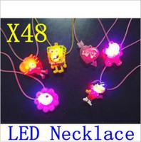 Wholesale Led Lighting For Wedding Receptions - flash led necklace,LED light,decorations (for wedding, reception, party led pendant flashingand gif