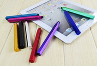 Wholesale Apple Ebook - Color Capacitive Touch Stylus Pen For mobile IPhone 5 4s i9300 920 tablet ipad n8000 and ebook