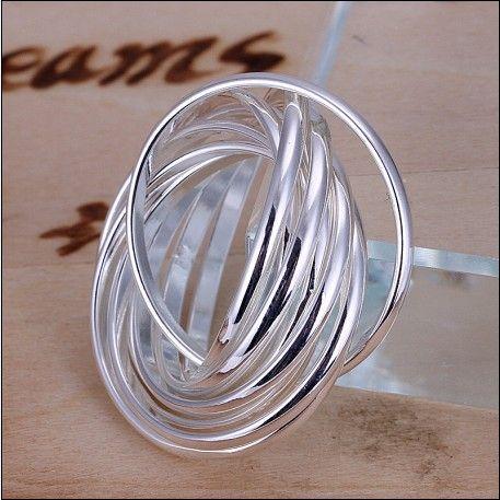 100% neue hohe Qualität 925 Silber neun Runden Ringe Mode Unisex Schmuck Freies Verschiffen