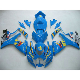 Venta al por mayor de Custom bodykits ABS Kit carenado para Suzuki GSXR 600 750 06-07 GSX R600 R750 2006 2007 Blue RIZLA +