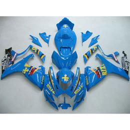 Großhandel Custom bodykits ABS Verkleidungssatz für Suzuki GSXR 600 750 06-07 GSX R600 R750 2006 2007 Blau RIZLA +
