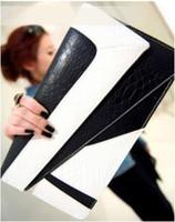 Wholesale Satin Ladies Clutch Bags - NEW Lady handbag women New Korean black white clutch purse shoulder bag