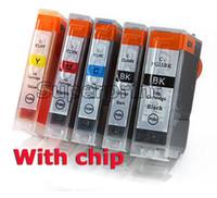 Wholesale Pixma Ink Cartridges - 5pcs ink cartridge for Canon PIXMA Printer IP4200 IP3300 MP500 MP960 MP970 PGI-5BK PGI-5 BK CLI8