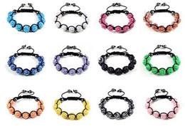 2019 bracelets en cristal d'hématite 9pcs 12MM résine cristal perles multicolore bracelets Bling hématite perles Bracelet 24pcs / lot bracelets en cristal d'hématite pas cher