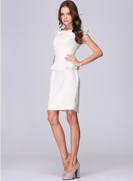 White Elegant Women Dress Work Ware Office Lady Evening Party ...