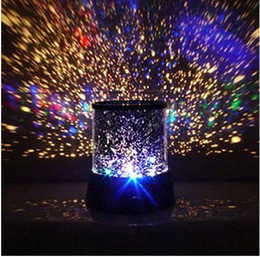 Wholesale Star Led Projector Lamp - new style Colorful cosmos stars laser-LED projector Star Projector Lamp LED Night light lantern