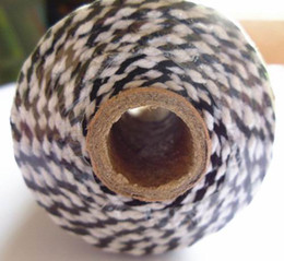 Wholesale Twine For Food - decorative stuff for straw hat and basket wholesale Bakers twine Double color 100% Cotton food and gift packing 15 spools black
