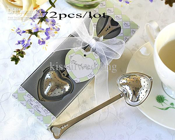 Free shipping 72pcs/lot Wedding giveaways of metal tea infuser wedding favors shipping in 2 days