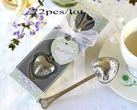 düğün iyiliği çay infuser toptan satış-Ücretsiz kargo 72 adet / grup Düğün hediyeleri metal çay demlik düğün 2 gün içinde nakliye şekeri