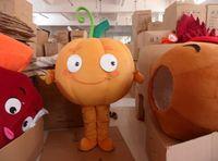 Wholesale Halloween Pumpkin Mascot - plush pumpkin carnival costumes mascot costumes adult size free shipping