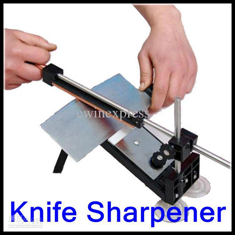 New Professional Kitchen Knife Sharpener Tools System Sharpening Fix Angle  With 4 Stones Serrated Knife Sharpeners Sharpeners From Ewinexpress, ...