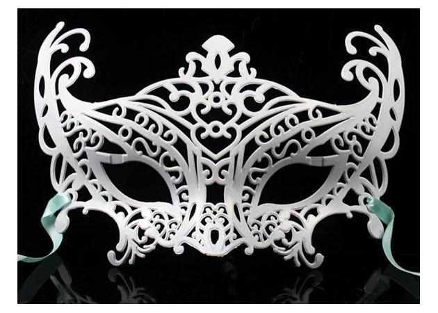 Mode Maskerade Maske Prinz und Prinzessin farbige glatte Oberfläche Partei Maske 50 teile / los