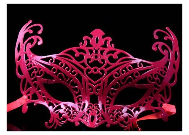 Moda mascarada máscara príncipe e princesa colorido suave superfície festa máscara 50 pçs / lote