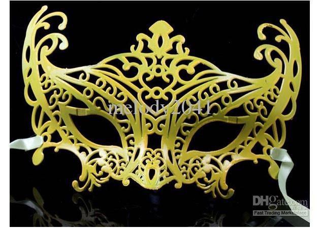 Mode Masquerade Mask Prince och Prinsessan Färgad Smidig Surface Party Mask 50pcs / Lot
