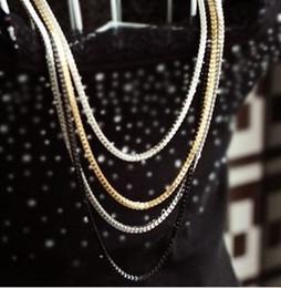 Wholesale Elegant Fashion Sweater - Fashion women necklace elegant enamel multi-layer metal chain necklace long sweater necklace jewelry