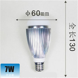 Wholesale 1w Cree Red Led - 12x E27 7W Led Bulb Light Globe Lamp High Power Led Spotlight 770 LM free shipping super bright 7*1W