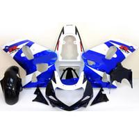 Wholesale Custom for Suzuki GSXR600 Fairing kit GSX R600 R750 Blue white Fairing