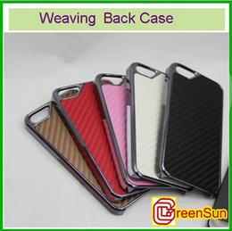 Wholesale I Phone Hard Cover - 10pcs New Silver Metal Weaving Hard Back Case Cover Fit For I Phone 5 5G
