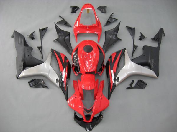 Bodykit dla Honda CBR600RR 07 08 CBR 600RR 2007 2008 Red / Matta Czarne Owalnia, Motocyklowe części do ciała