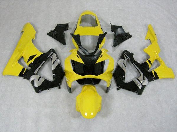 Kits de carrocería personalizados para HONDA CBR929RR 00 01 CBR 929RR 2000-2001 Carenado amarillo, carrocería de motocicletas