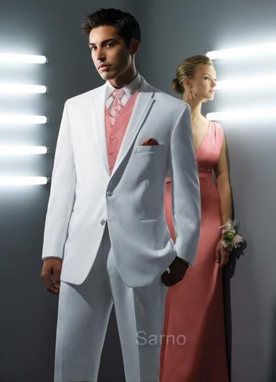 Classic Designer White Men Suit Groom Tuxedos Prom Clothing Jacket ...