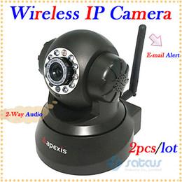 2019 fio mini cames Detecção de movimento 2pcs / lot, câmera sem fio alerta do IP do email com visão nocturna de 15m