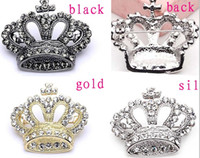 Wholesale rhinestone crown brooch resale online - New Fashion Pieces Metal shining crystal crown cross pin brooches brooch CY1