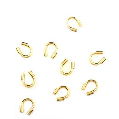 / 4mm guldpläterade svarta trådskyddsskyddsskydd hakar smycken DIY smycken fynd komponenter