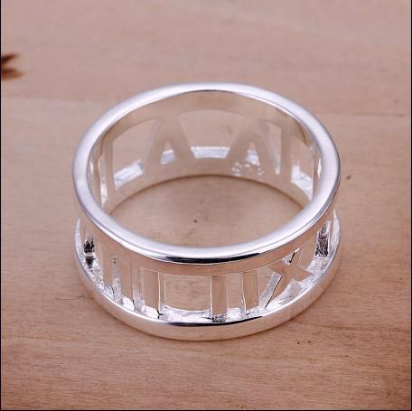 Römischer Ring 6-10 # der hohen Qualität 925 freies Verschiffen 10pcs / lot