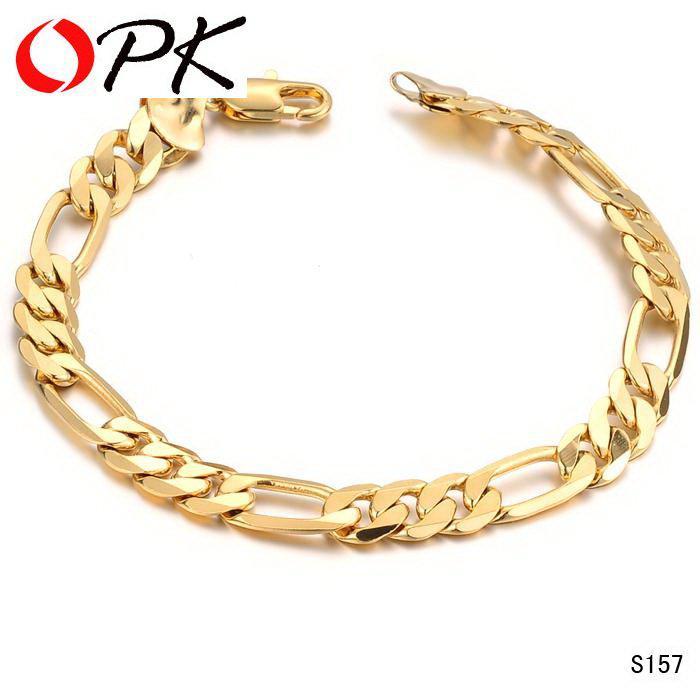 Opk Jewellery Wedding Man 18k Gold Gp Bracelet Hand Made Bracelets