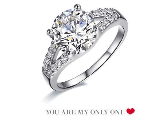 2018 Fashion Diamond Rings Womens Wedding Engagement Ring Gift From Good Girls 9166