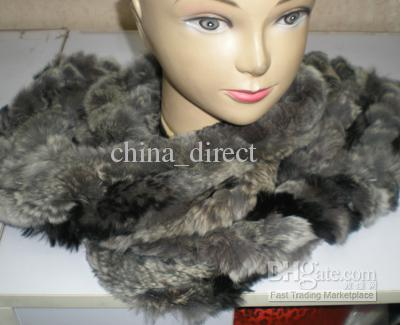 Rex Rabbit Fur Neckscarf Cachecóis Neck Warmer NOVA CHEGADA # 2323
