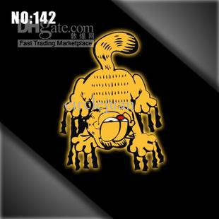 Wholesale Reflective Garfield funny car decals stickers Bumper Stickers car-styling