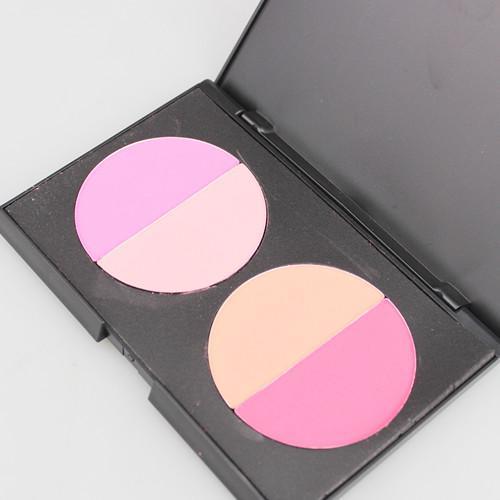 / professionnel 4 couleurs fard à joues maquillage poudre Palat Blush poudre gracieuse