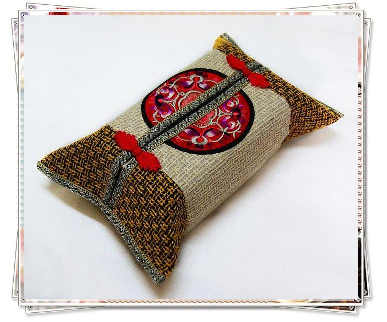 Einzigartige Tissue-Kasten-Abdeckungen des Lidschattens rechteckige Gute Qualität chinesische Art 10pcs / lot mischen die freie Farbe