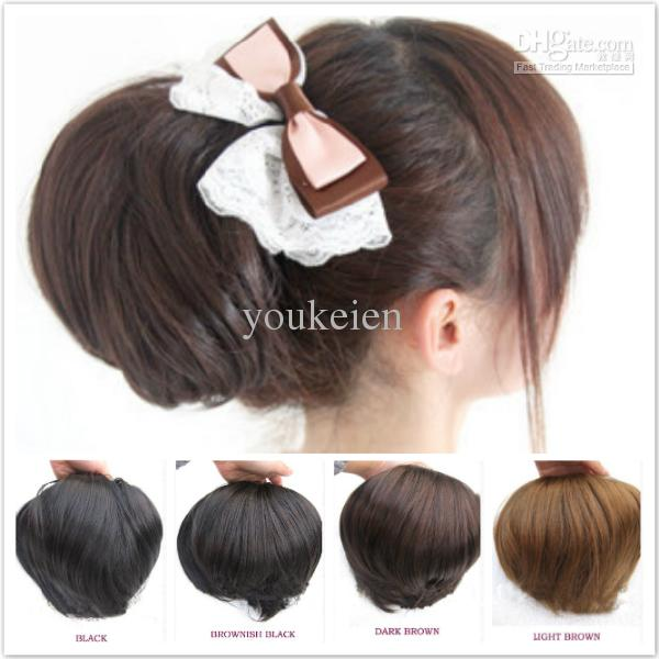 Ladies fashion big synthetic hair bun brides hair chignons small cheap dhgate hair black best hair highlights pmusecretfo Images