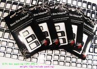 Wholesale r sim card resale online - 3 in Nano Micro Sim Card Adapter R sim Adapter for iPhone G th set Black