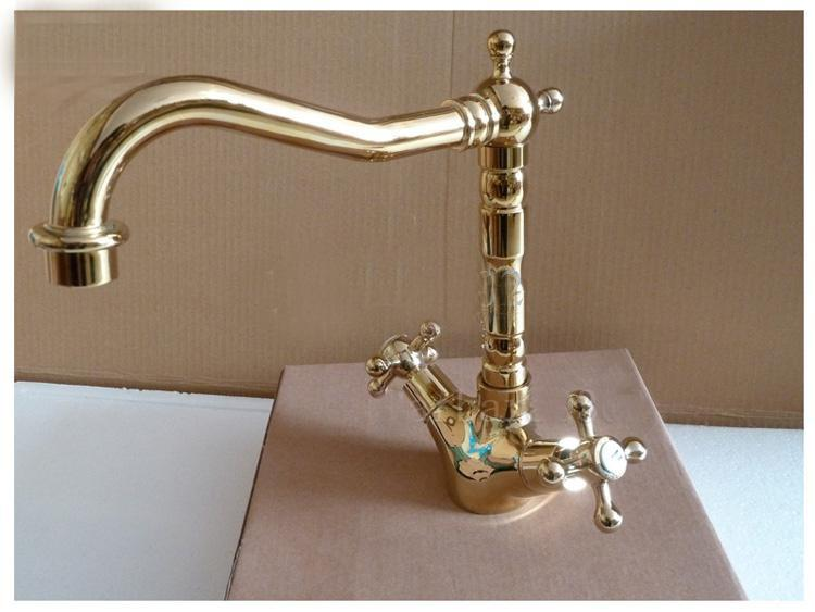 gold brass kitchen faucet sink single handle tap basin hot and cold mixer brand new from soon dhgatecom