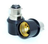 e27 b22 tabanı toptan satış-10 ADET B22 E27 lamba adaptörü b22-e27 bankası ampul duy tutucu
