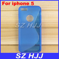 Wholesale Case Jelly S Line - For iPhone 5 5S S Line Crystal Soft TPU Cases Jelly Back Cover Protective Shell