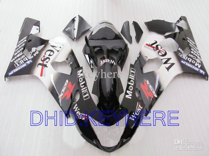 West Custom Fairings för Suzuki GSXR 600 750 2004 2005 GSX R600 GSXR600 GSXR750 04 05 K4 Fairing Kit